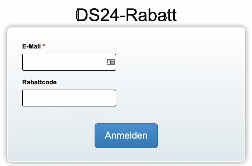 quentn ds24 rabattcode feld 1